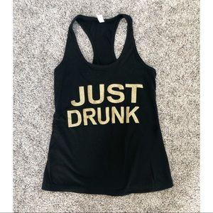"""Just Drunk"" Black Tank Top"